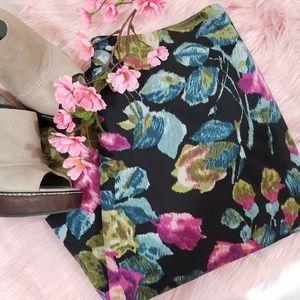 Talbots Floral Midi Pencil Skirt